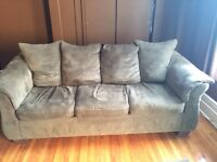 Microsuede couch and loveseat