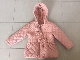 Girls Pink Coat - 18 - 24 months