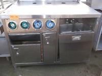Stainless Steel Counter/w hand sink & 4 cup disp. #751-14