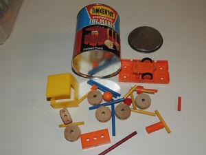 3 Vintage toys: Merit Pagoda, Merit Pipes & Tinkertoy