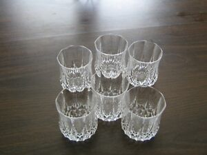 Crystal Whisky Glasses- a set of six West Island Greater Montréal image 1