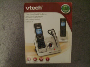 VTECH TWO HANDSET CORDLESS ANSWERING SYSTEM - NEW