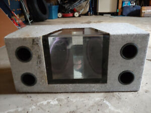 10 inch Sub box with subs jl audio
