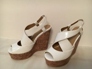 Sbicca of California White Size 6.5 Wedge Sandals for Sale!