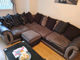 DFS corner sofa plus a 3 seater and foot stool