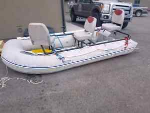Used or new canoe kayak paddle boats for sale in for Fly fishing raft for sale