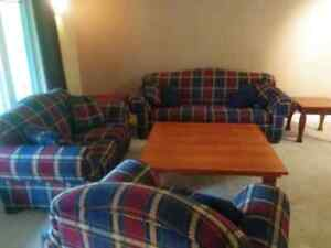 Couch and coffee table set