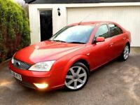 **IMMACULATE** 2006 FORD MONDEO TITANIUM X NAV 2.0 TDCI 130 RED/ORANGE HATCH