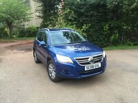 08 vw Tiguan 2.0 tdi diesel 4x4 64200 miles only full vw service history £6550