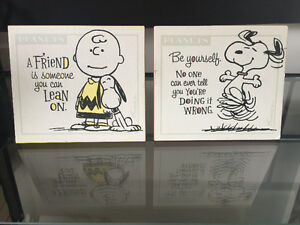 Hallmark Peanuts Plaques and Notepad