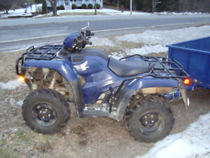 2014 honda trx500fm 2whd/4whd manual shift with warn winch