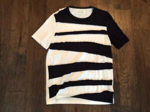 Maison Martin Margiela Crooked Striped Multi-Fabric T-Shirt - M