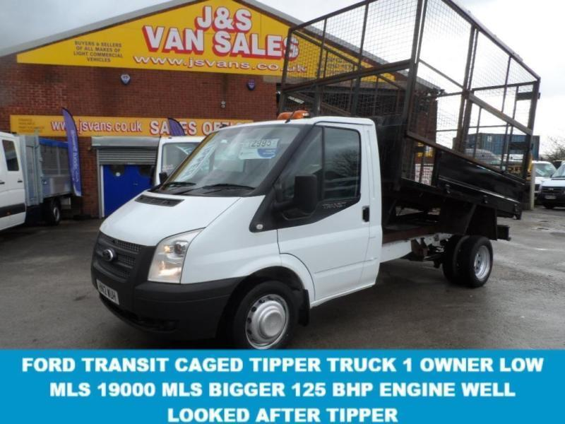 TIPPER + CAGED BODY VAN 1 OWNER FROM NEW LOW MLS