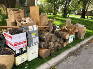 Free stuff - firewood, garage items