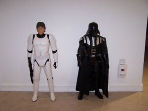 2 STAR WARS 2 1/2 FT DARTH VADER -HANS SOLO