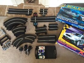 Two Scalextric sets, rally racing and continental sports cars