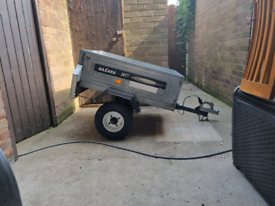 Daxara metal trailer with tipper option and drop tail