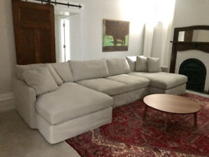 Crate & Barrel Lounge Sectional Sofa