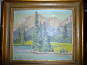 "Jean Cameron ""Lac Beauvert"" Original Oil Painting 1945 Stratford Kitchener Area image 1"