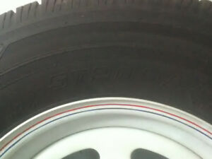 Two 15 inch trailer tires