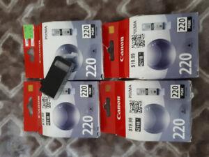 6 Canon 220 Cartridges