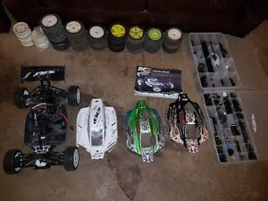 Two Buggy Team Associated RC8 with load of part