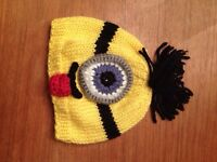 Knitted minion hat and more