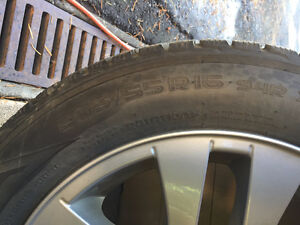 BMW Rims with Nokian Winter Tires