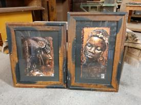 Pair of Tribal Art Prints