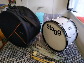 Stagg marching bass drum.