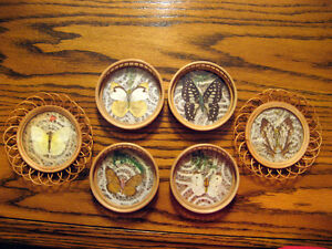 Four uniquely different coffee coaster sets