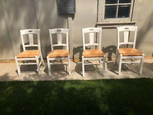 Shabby Chic White Dining Chairs