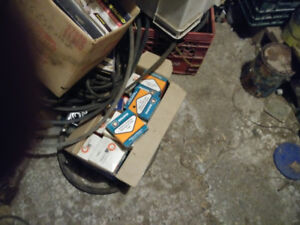 7 boxes new car parts early 80's garage inventory