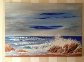 Original painting, oil on canvas - one off, entitled 'the wild sea'