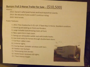 Like New, Clean and Cared For 2 horse Titan Avalanche ll Trailer