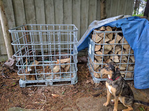 IBC Totes / Firewood Baskets and Firewood