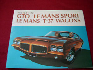 1971 GTO, LeMans Sport sales brochure Peterborough Peterborough Area image 1