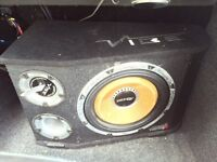 Brilliant Alpine sound system for car, amplifier, Subwoofer with amplifier inside, 2 pioneers