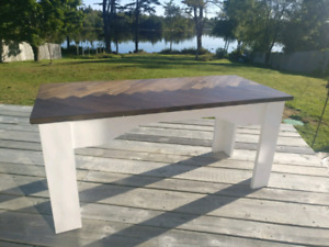 Hand crafted wooden bench / small coffee table