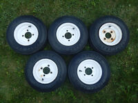 Carlisle 4.80-8 Trailer Tire Assembly x 5