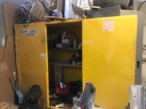 Flammable Cabinet Yellow USED AS IS!