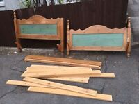 SOLID PINE DOUBLE BED FRAME ** FREE DELIVERY AVAILABLE MONDAY NIGHT **