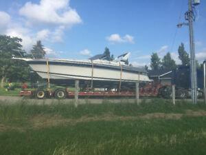 45 foot commercial lowboy boat trailer