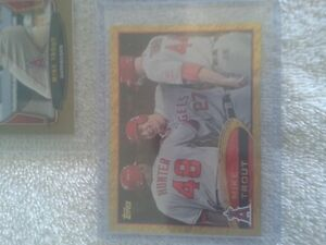 2012 topps Gold Mike Trout Rookie Card, plus some [7-total]