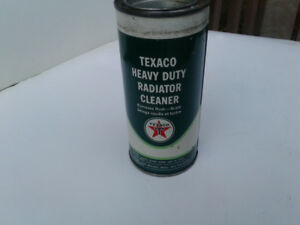 OLD VINTAGE TEXACO RADIATOR FLUSH TIN WITH CONTENTS