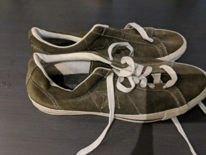 Olive green Converse one stars