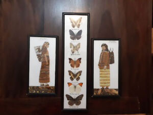Thai art made with native butterfly wings