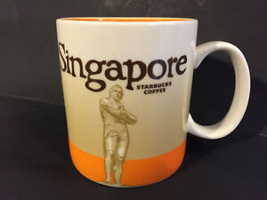 Singapore IV Starbucks Coffee Company Global Icon Orange Mug