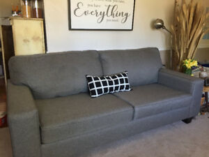 LIVING ROOM SET - Like new - Sofa, Loveseat, 2 Ottomans