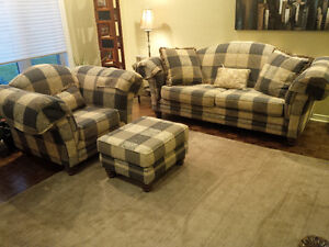 Matching Sofa and Chair with Ottoman